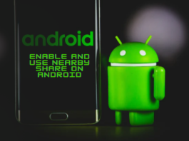 Enable and Use Nearby Share on Android